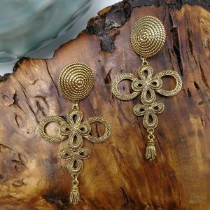 🌵 Vintage high Quality gypsy brass rope knot